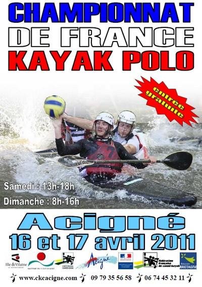 Championnat de France Kayak Polo à Acigné