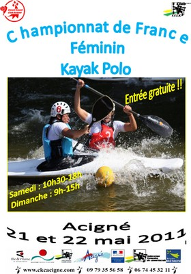 Chpt de France de kayak-polo Dames