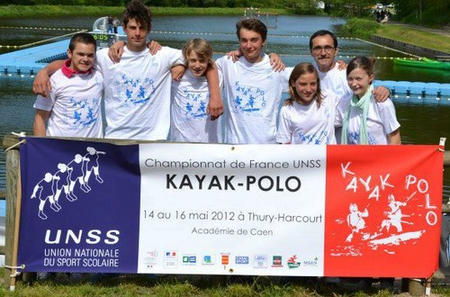 Champion de France UNSS 2012 de Kayak Polo